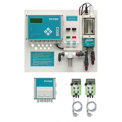 Automatic dosing station with membrane pumps